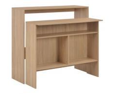 vidaXL Table de bar avec 2 dessus de table Chêne 130 x 40 x 120 cm