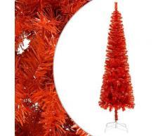 vidaXL Sapin de Noël étroit Rouge 210 cm