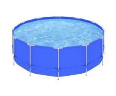 vidaXL Piscine avec cadre en acier 457x122 cm Bleu