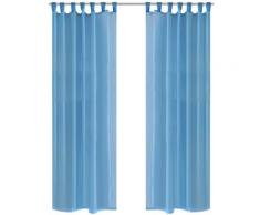 vidaXL Rideau fin Turquoise 140x175 cm 2 pcs