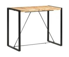 vidaXL Table de bar 140x70x110 cm Bois de manguier massif