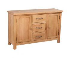 vidaXL Buffet avec 3 tiroirs 110 x 33,5 x 70 cm Bois de chêne massif