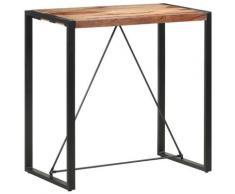 vidaXL Table de bar 110x60x110 cm Bois solide