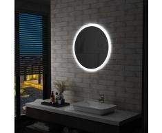 vidaXL Miroir à LED pour salle de bain 70 cm