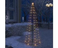 vidaXL Sapin de Noël cône 100 LED blanc chaud 70x180 cm