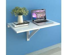 vidaXL Table murale rabattable 100 x 60 cm Blanc