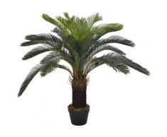 vidaXL Plante artificielle avec pot Palmier Cycas Vert 90 cm