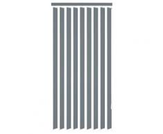 vidaXL Store vertical 150 x 180 cm Tissu Gris