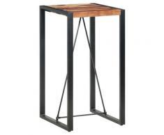 vidaXL Table de bar 60x60x110 cm Bois solide