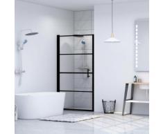 vidaXL Porte de douche Verre trempé 100x178 cm Noir