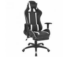 vidaXL Chaise de bureau inclinable avec repose-pied Blanc