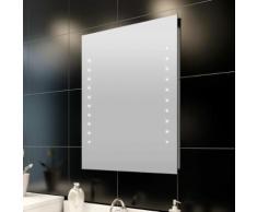 vidaXL Miroir de salle de bain avec lumières LED 60 x 80 cm (L x H)