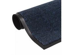 vidaXL Paillasson rectangulaire 90 x 150 cm Bleu