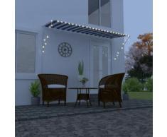 vidaXL Auvent rétractable avec LED 350x150 cm Bleu et blanc