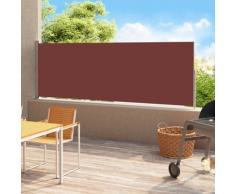 vidaXL Auvent latéral rétractable de patio 180x500 cm Marron