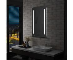 vidaXL Miroir mural à LED pour salle de bains avec étagère 60x100 cm