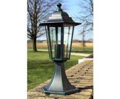 vidaXL Lampe de jardin Vert foncé/Noir Aluminium