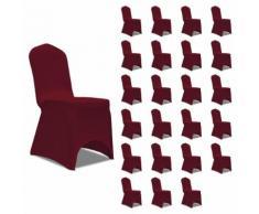 vidaXL Housses élastiques de chaise Bordeaux 24 pcs