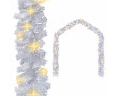 vidaXL Guirlande de Noël avec lumières LED 5 m Blanc