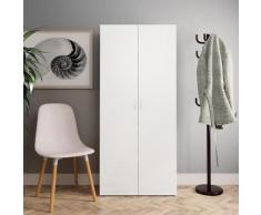 vidaXL Armoire à chaussures Blanc 80 x 35,5 x 180 cm Aggloméré
