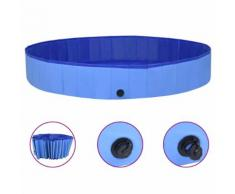 vidaXL Piscine pliable pour chiens Bleu 300x40 cm PVC