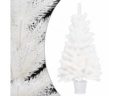 vidaXL Arbre de Noël artificiel Aiguilles réalistes Blanc 90 cm