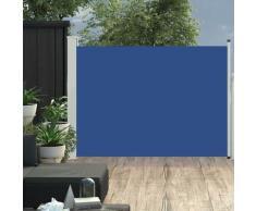 vidaXL Auvent latéral rétractable de patio 100x500 cm Bleu