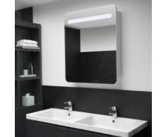vidaXL Armoire de salle de bain à miroir LED 68x9x80 cm