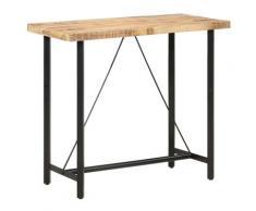 vidaXL Table de bar 120x58x107 cm Bois de manguier brut