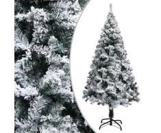 vidaXL Sapin de Noël artificiel à flocons de neige Vert 150 cm PVC