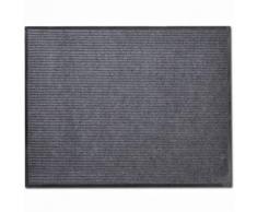 vidaXL Tapis d'entrée PVC Gris 90 x 150 cm