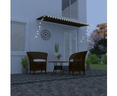 vidaXL Auvent rétractable avec LED 350x150 cm Anthracite
