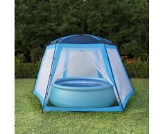 vidaXL Tente de piscine Tissu 590x520x250 cm Bleu