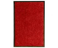 vidaXL Paillasson lavable Rouge 40x60 cm