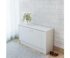 vidaXL Banc à chaussures 80 x 24 x 45 cm Blanc