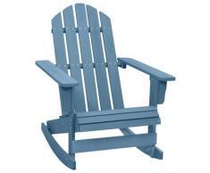 vidaXL Chaise à bascule de jardin Adirondack Bois de sapin massif Bleu