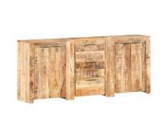vidaXL Buffet avec 3 tiroirs et 4 portes Bois massif de manguier