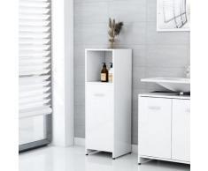 vidaXL Armoire de salle de bain Blanc brillant 30x30x95 cm Aggloméré