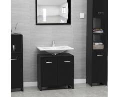 vidaXL Armoire de salle de bain Noir 60x33x58 cm Aggloméré