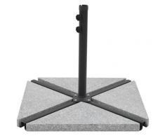 vidaXL Plaques de poids de parasol 4 pcs Triangulaire Granit Gris 60kg