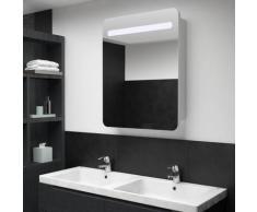 vidaXL Armoire de salle de bain à miroir LED 60x11x80 cm