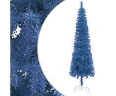 vidaXL Sapin de Noël étroit Bleu 180 cm