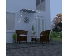 vidaXL Auvent rétractable avec LED 150x150 cm Bleu et blanc