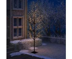 vidaXL Sapin de Noël 1200 LED blanc chaud Cerisier en fleurs 400 cm