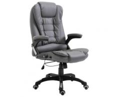 vidaXL Chaise de bureau Anthracite Similicuir