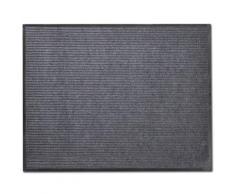 vidaXL Tapis d'entrée PVC Gris 90 x 120 cm