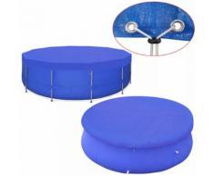 vidaXL Couverture de piscine PE Ronde 540 cm 90 g/m²