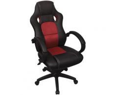vidaXL Chaise de bureau en cuir artificiel Rouge