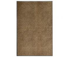 vidaXL Paillasson lavable Marron 120x180 cm