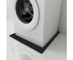 vidaXL Tapis anti-vibrations pour la machine à laver Noir 60x60x0,6 cm